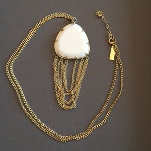 Kendra Scott White Pendant Necklace